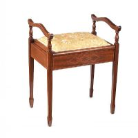 EDWARDIAN MAHOGANY PIANO STOOL at Ross's Auctions