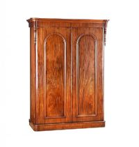 VICTORIAN MAHOGANY TWO DOOR WARDROBE at Ross's Auctions