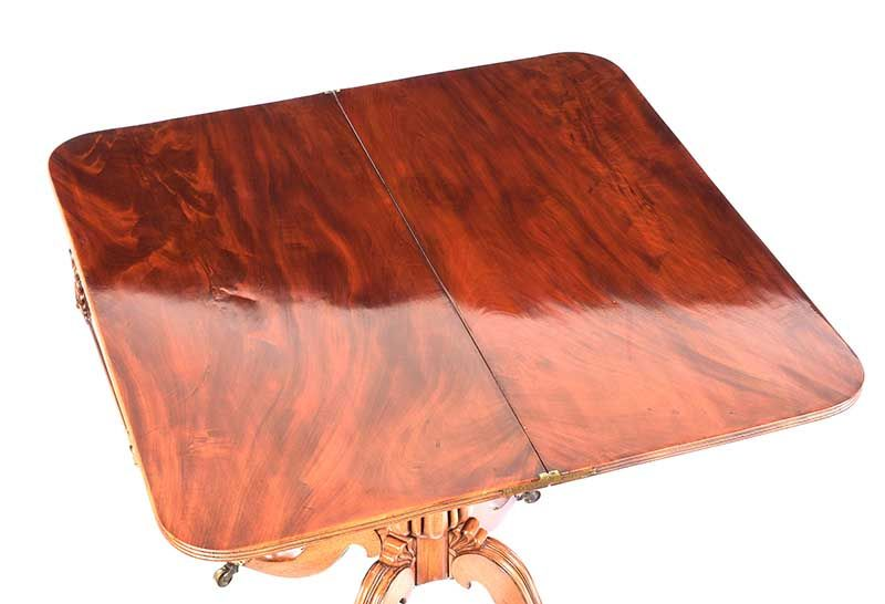 REGENCY MAHOGANY TURN OVER LEAF TEA TABLE at Ross's Online Art Auctions
