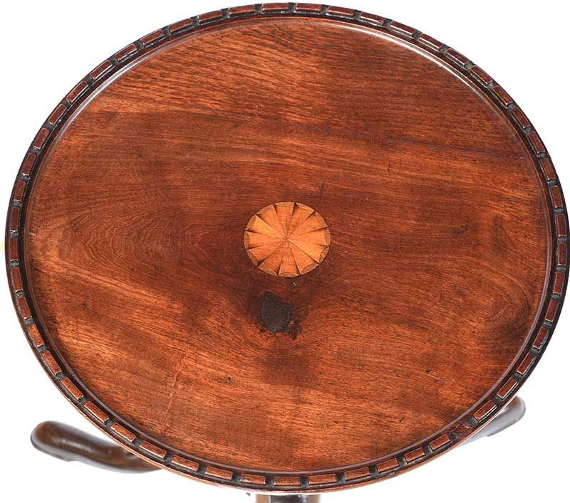 INLAID MAHOGANY WINE TABLE at Ross's Online Art Auctions
