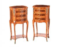 PAIR OF FRENCH BEDSIDE PEDESTALS at Ross's Auctions