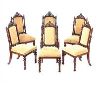 A VERY FINE SET OF SIX VICTORIAN GILLOWS DINING ROOM CHAIRS at Ross's Auctions