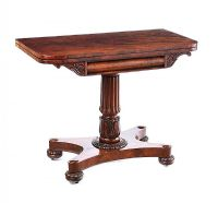 WILLIAM IV TURN OVER LEAF GAMES TABLE at Ross's Auctions