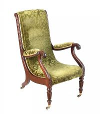 REGENCY MAHOGANY LIBRARY CHAIR at Ross's Auctions