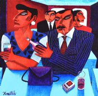 AT THE BAR by Graham Knuttel at Ross's Auctions