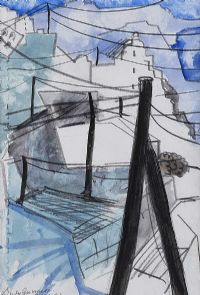 WASHING LINES, GREECE by Lindy Guinness at Ross's Auctions