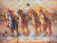 FOUR HORSE RACE by R. Sanford at Ross's Auctions