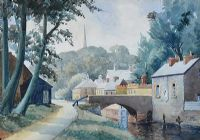 THE LOCK GATES by William Robert Gordon RUA at Ross's Auctions
