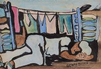 SLEEPING BY THE WASHING LINE by Gerard Dillon at Ross's Auctions