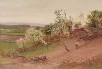 WORKING ON THE HILLSIDE by H. Allingham at Ross's Auctions