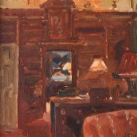 THE LIBRARY, CLANDEBOYE by Lindy Guinness at Ross's Auctions