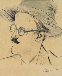 PORTRAIT OF JAMES JOYCE by J. Ryan at Ross's Auctions