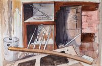 HOUSE INTERIOR by George Campbell RHA RUA at Ross's Auctions
