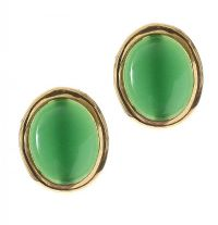 PAIR OF 18CT GOLD MOUNTED JADE EARRINGS at Ross's Jewellery Auctions
