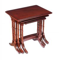 MAHOGANY NEST OF TABLES at Ross's Auctions