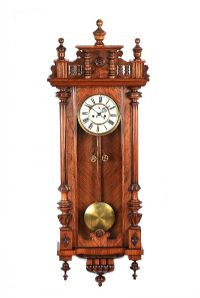 VICTORIAN DOUBLE WEIGHT VIENNA WALL CLOCK at Ross's Auctions