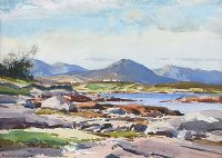 EVENING, CATHAL MOUNTAIN, COUNTY GALWAY by Maurice Canning  Wilks ARHA RUA at Ross's Auctions
