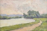 TOWPATH, RIVER LAGAN by Hans Iten RUA at Ross's Auctions