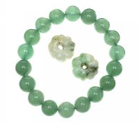 JADE BRACELET WITH TWO JADE CHARMS at Ross's Jewellery Auctions