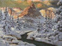 SUNLIGHT ON THE SNOW by Hungarian School at Ross's Auctions