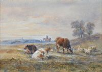 CATTLE GRAZING by Henry Earp Sr. at Ross's Auctions