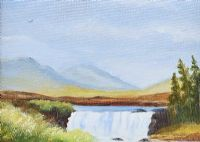 AASLEAGH FALLS, LEENANE, GALWAY by Edith Fletcher at Ross's Auctions