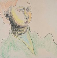 PORTRAIT OF A WOMAN by Colin Middleton RHA RUA at Ross's Auctions