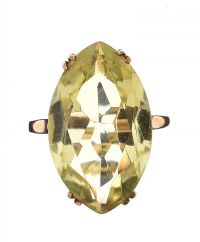 9CT GOLD CITRINE RING at Ross's Jewellery Auctions