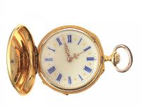 18CT GOLD DIAMOND-SET FOB WATCH at Ross's Auctions