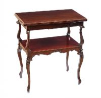 EDWARDIAN MAHOGANY TURN OVER LEAF CARD TABLE at Ross's Auctions