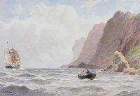 THE GOBBINS, ENTRANCE TO BELFAST LOUGH by Joseph William  Carey RUA at Ross's Auctions