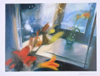 FLOWERS IN THE WINDOW by Sophie Aghajanian RUA at Ross's Auctions