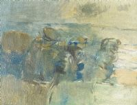TREES IN A LANDSCAPE by Basil Blackshaw HRHA HRUA at Ross's Auctions