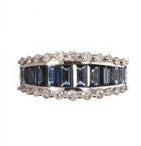 18CT GOLD DIAMOND AND SAPPHIRE RING at Ross's Jewellery Auctions