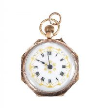 9CT GOLD OPEN FACED FOB WATCH at Ross's Jewellery Auctions