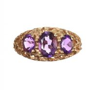 18CT GOLD AMETHYST RING at Ross's Jewellery Auctions