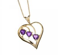 9CT GOLD AMETHYST NECKLACE  at Ross's Jewellery Auctions