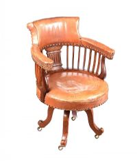 VICTORIAN MAHOGANY DESK CHAIR at Ross's Auctions