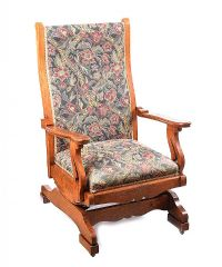 ARTS & CRAFTS OAK ROCKING CHAIR at Ross's Auctions