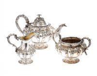THREE PIECE SILVER TEA SERVICE at Ross's Auctions