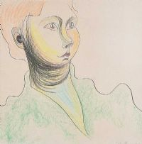 FEMALE PORTRAIT by Colin Middleton RHA RUA at Ross's Auctions