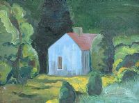 STUDY FOR THE BLUE HOUSE, FERMANAGH by Rita Duffy RUA at Ross's Auctions