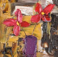 STILL LIFE, RED FLOWERS by Colin Flack at Ross's Auctions