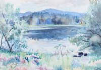 LOUGH REFLECTIONS by William Robert Gordon RUA at Ross's Auctions