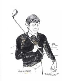 MICHAEL HOEY, GOLFER by Rowel Friers HRUA at Ross's Auctions