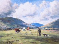 TENDING CATTLE by Charles McAuley at Ross's Auctions