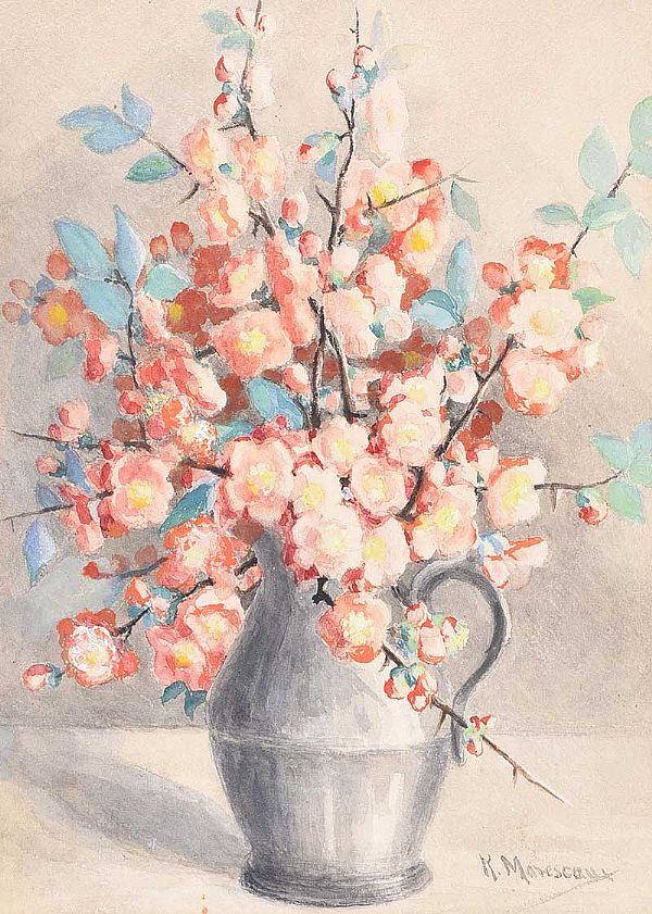 STILL LIFE, FLOWERS by Kathleen Marescaux at Ross's Online Art Auctions