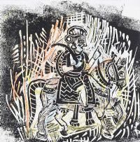 HORSE & RIDER by Gerard Dillon at Ross's Auctions