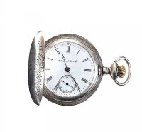LARGE ENGRAVED SILVER POCKET WATCH at Ross's Jewellery Auctions