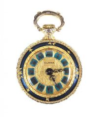 GOLD-PLATED CLAMA FOB WATCH at Ross's Jewellery Auctions